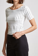 Milly Milano Short Sleeve Top