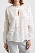 Palm Embroidery Blouse