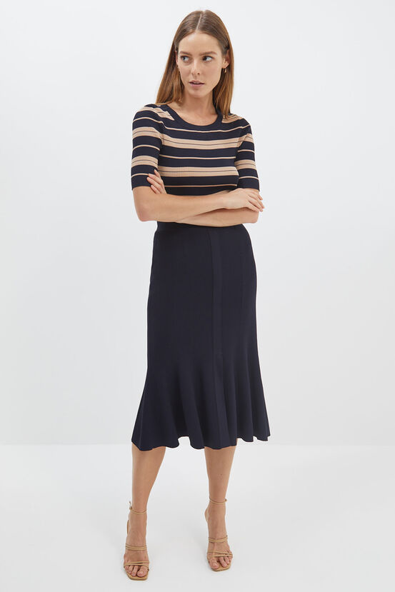 Saba Australia Victoria Knit Midi Skirt | Stay at Home Mum