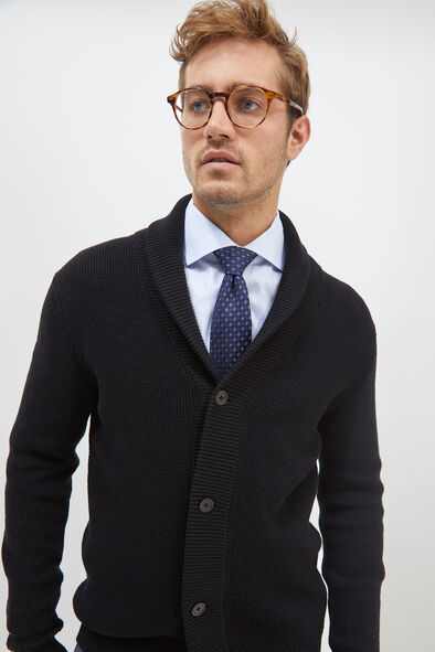 saba mens angus shawl cardigan black